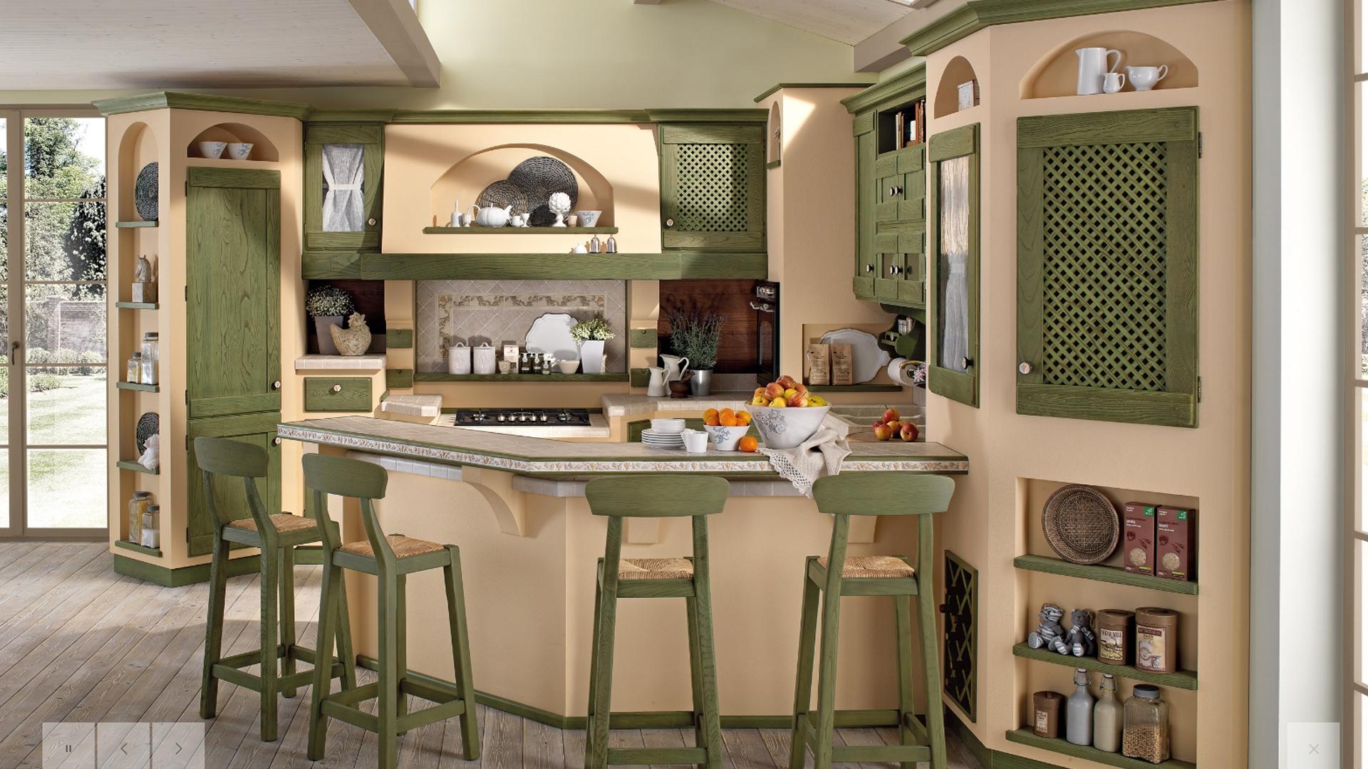 Cucina Anita Verde antico - Saguto Arredi